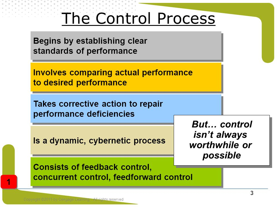 But… control isn't always worthwhile or possible