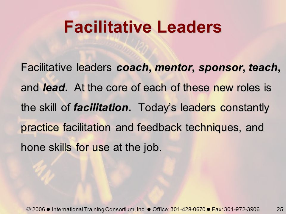 Facilitative Leaders