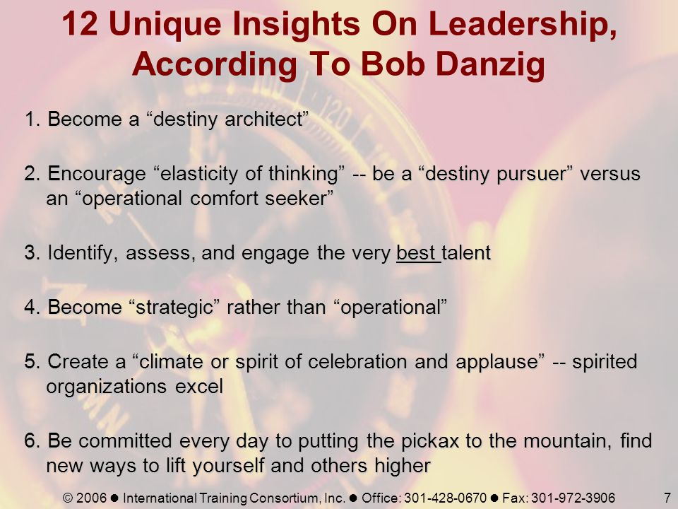 12 Unique Insights On Leadership, According To Bob Danzig