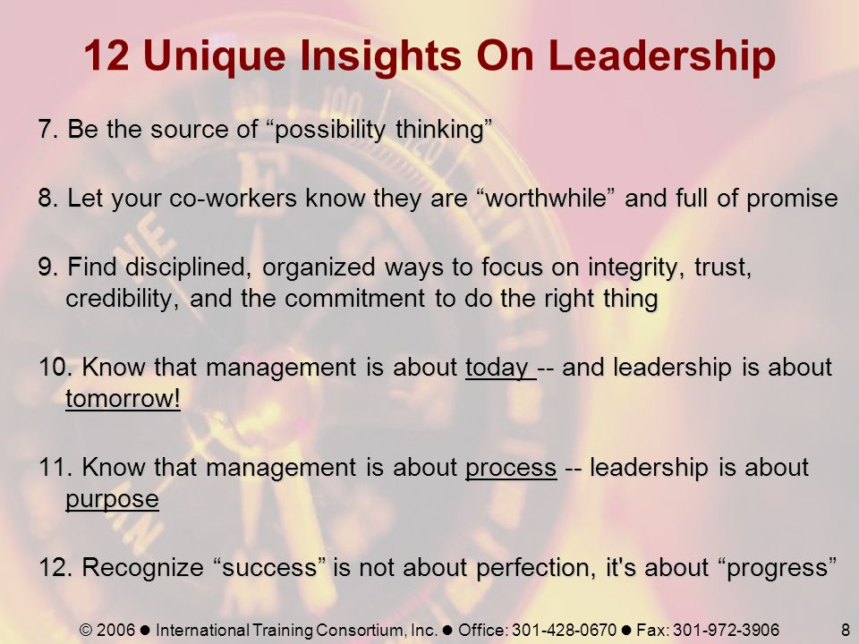 12 Unique Insights On Leadership