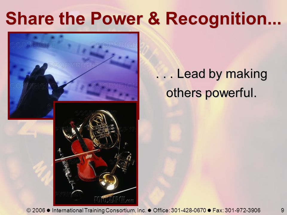 Share the Power & Recognition...
