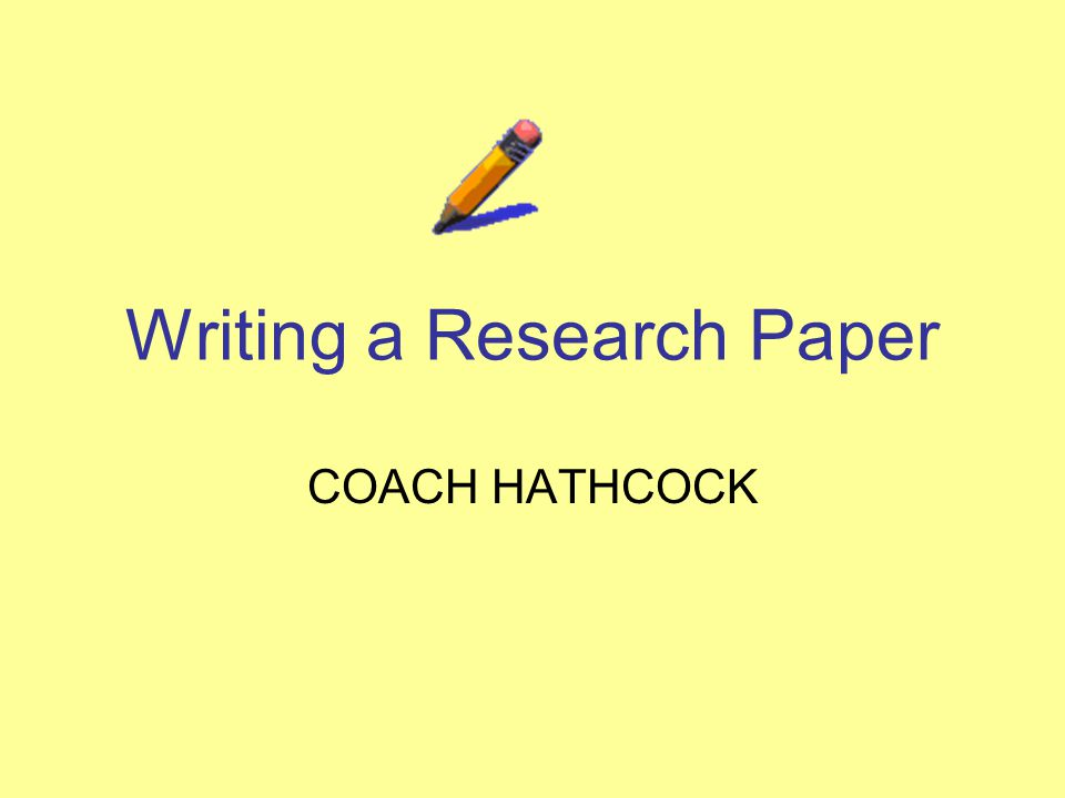 Online research paper writing powerpoint