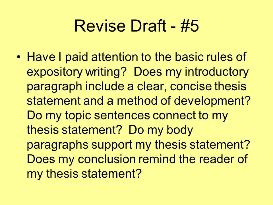 Revise Draft - #5