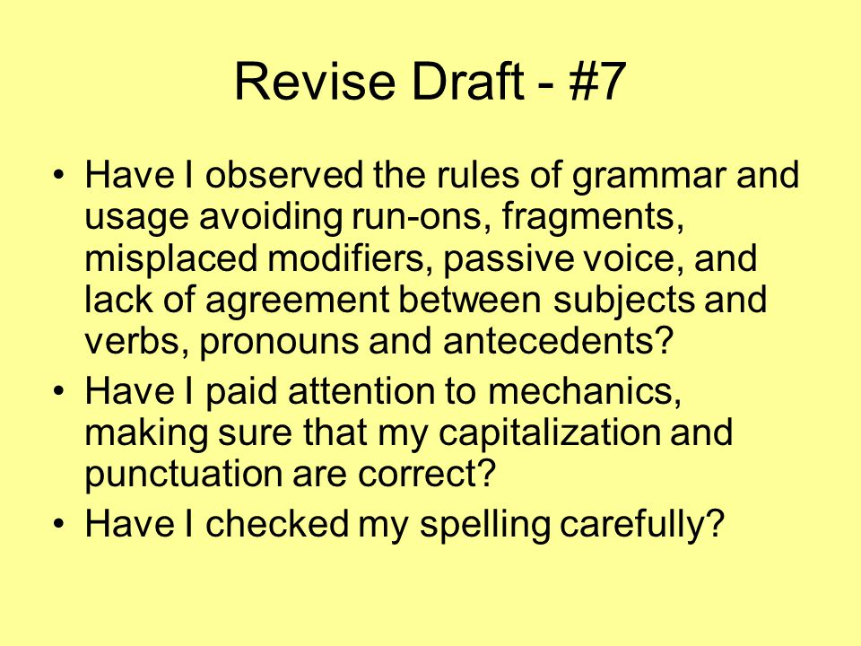 Revise Draft - #7