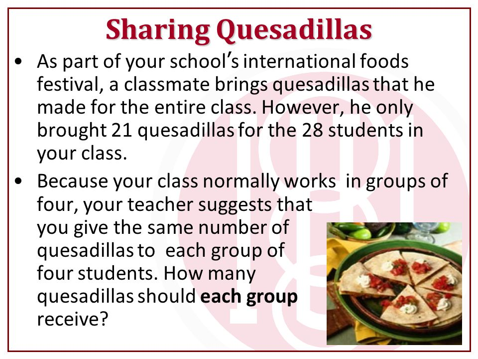 Sharing Quesadillas