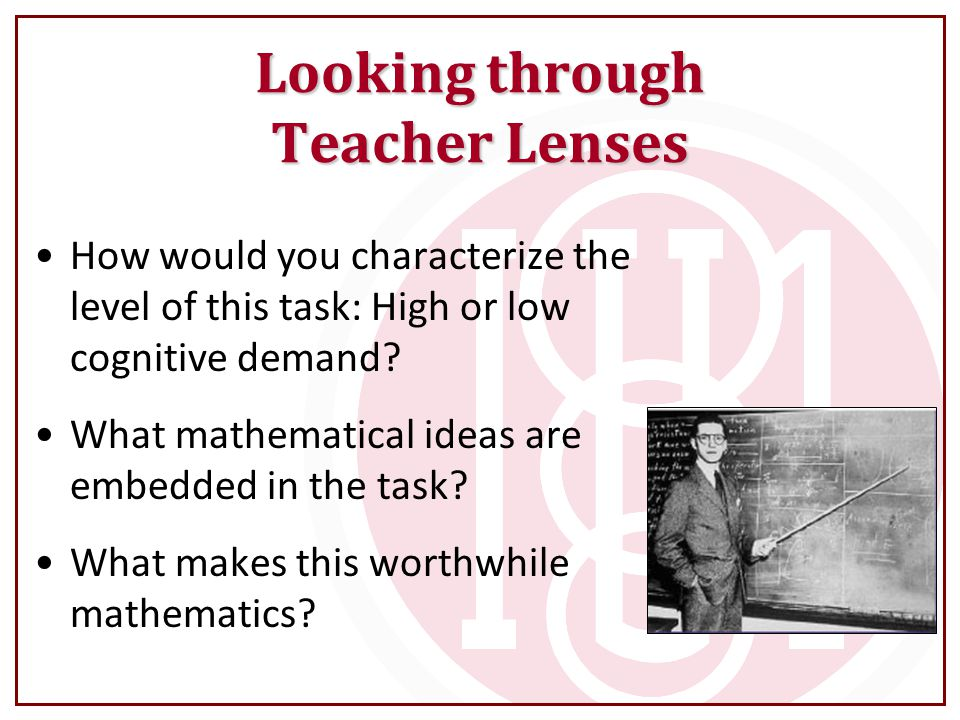 Looking through Teacher Lenses