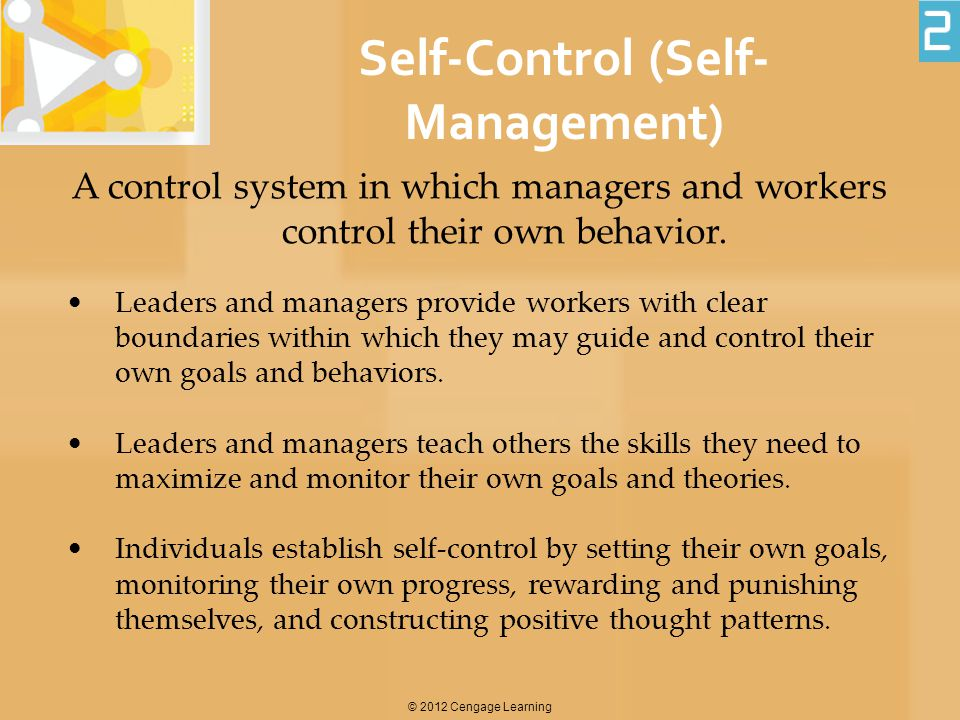 Self-Control (Self-Management)
