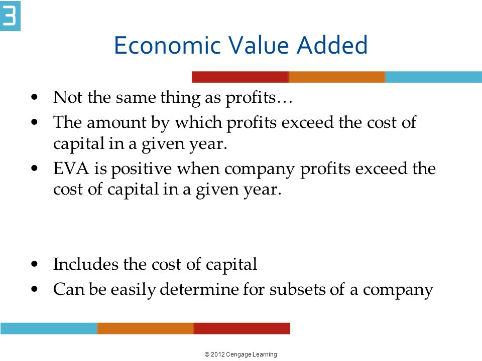 Economic Value Added Not the same thing as profits…
