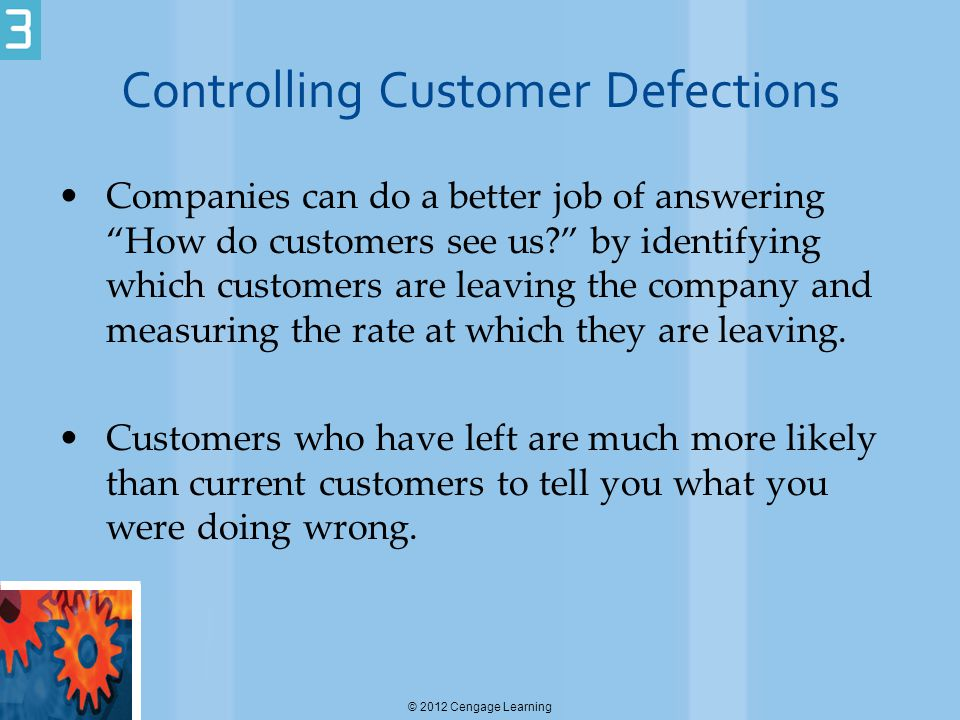 Controlling Customer Defections