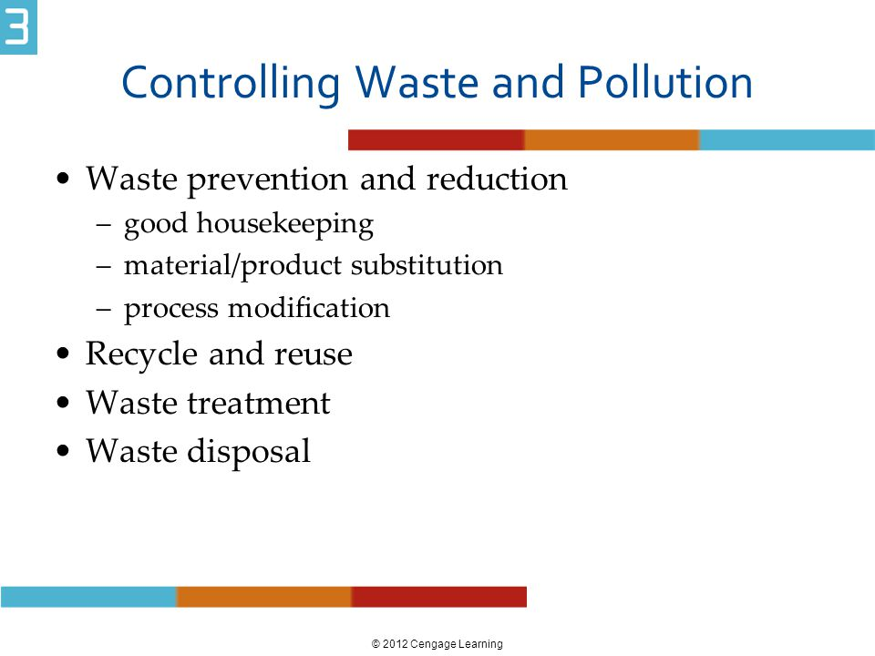 Controlling Waste and Pollution