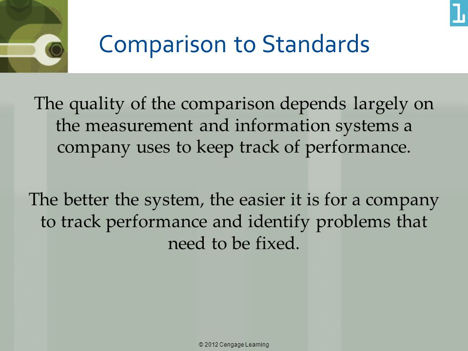 Comparison to Standards