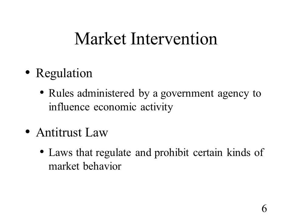Market Intervention Regulation Antitrust Law