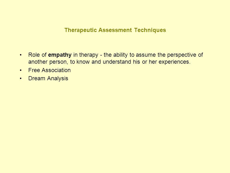 Therapeutic Assessment Techniques
