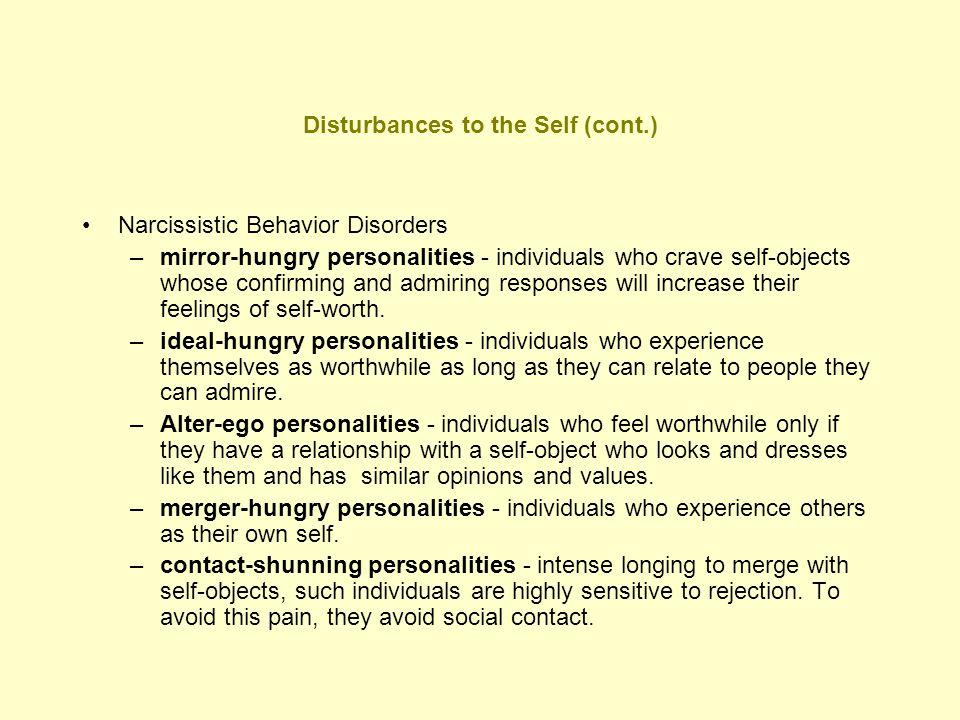 Disturbances to the Self (cont.)