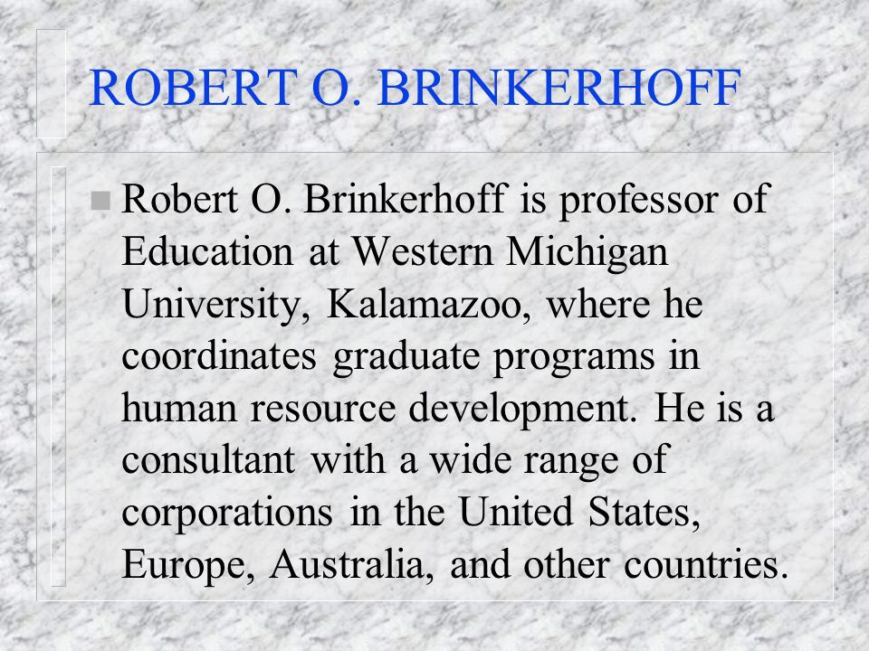 ROBERT O. BRINKERHOFF