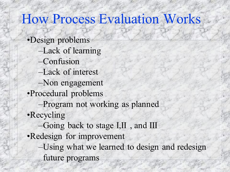 How Process Evaluation Works