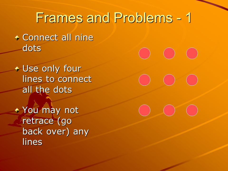 Frames and Problems - 1 Connect all nine dots