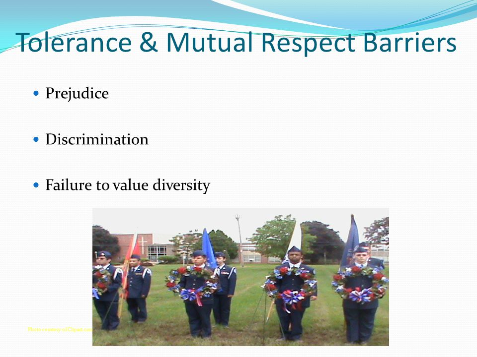 Tolerance & Mutual Respect Barriers