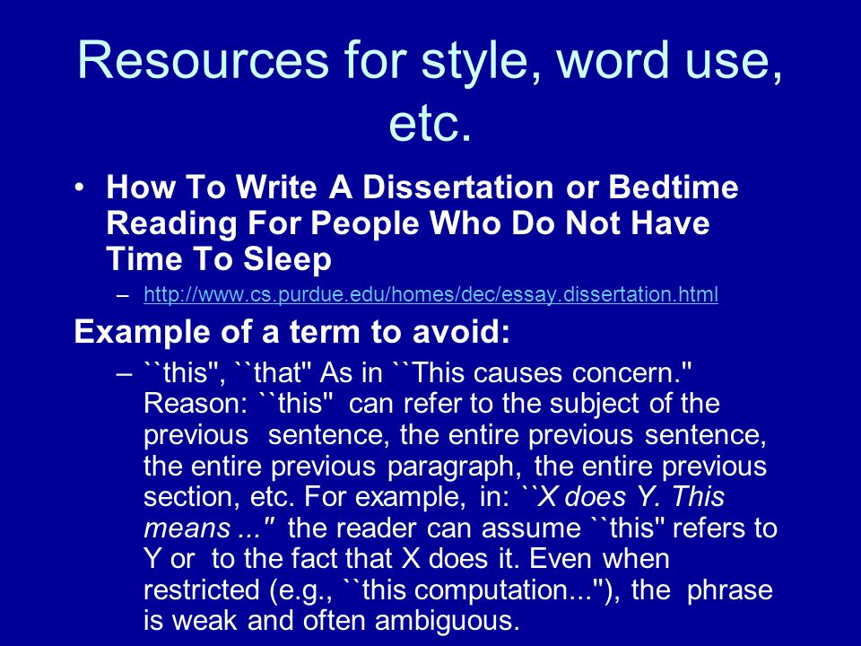 Resources for style, word use, etc.