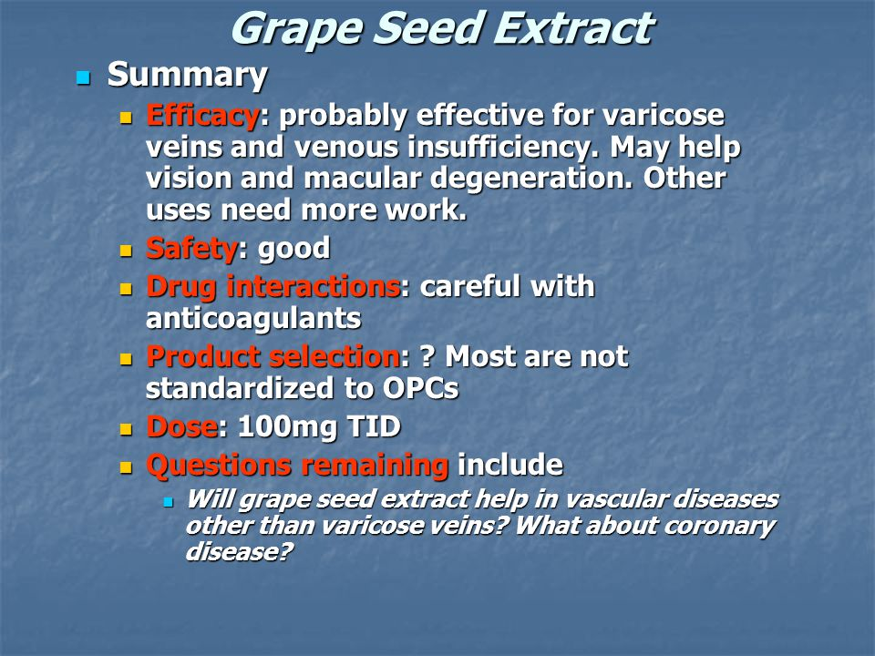 Grape Seed Extract Summary