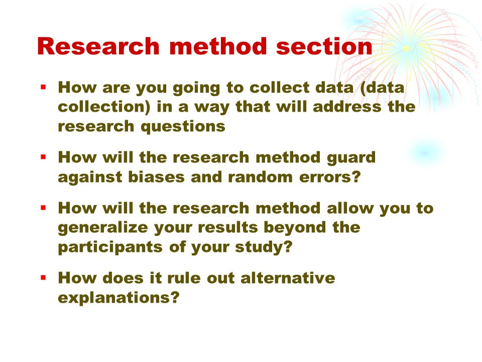 Research method section