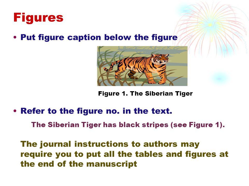 Figures Put figure caption below the figure