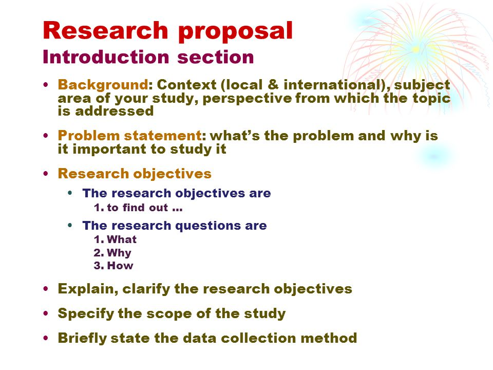 Research proposal literature review introduction