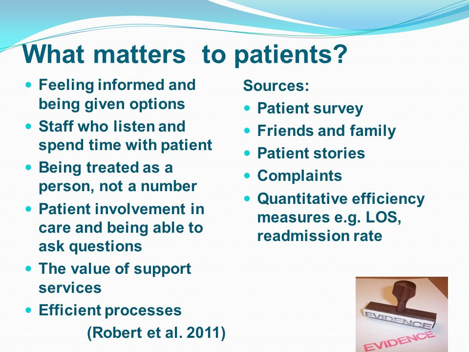 What matters to patients