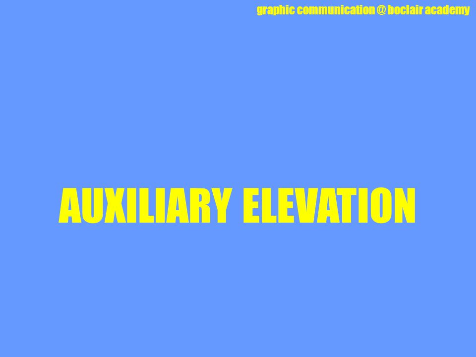 AUXILIARY ELEVATION