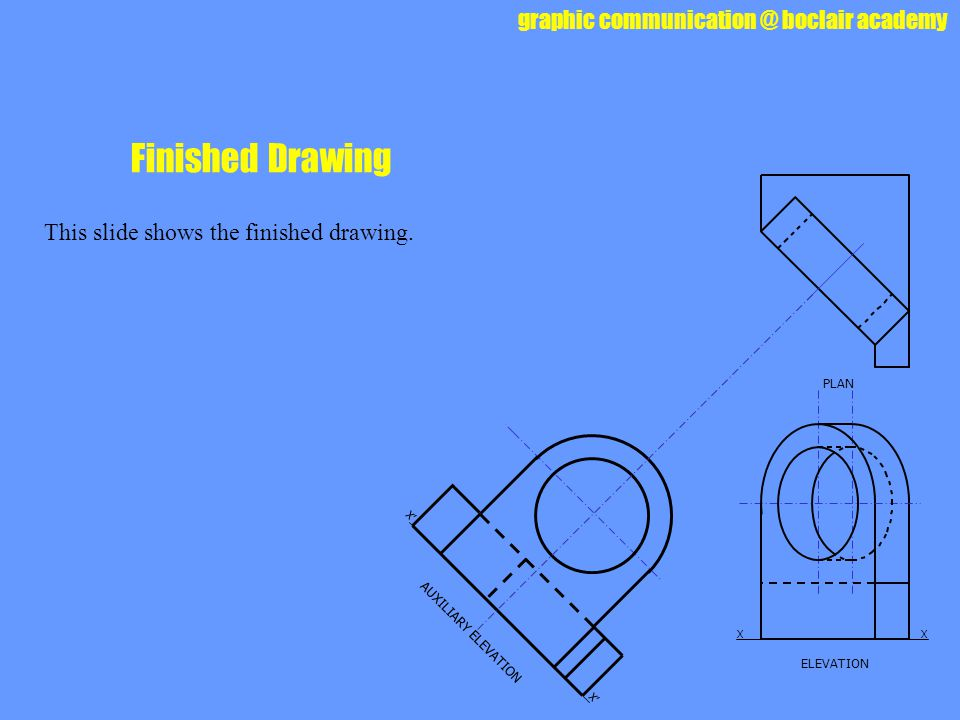 Finished Drawing This slide shows the finished drawing. PLAN