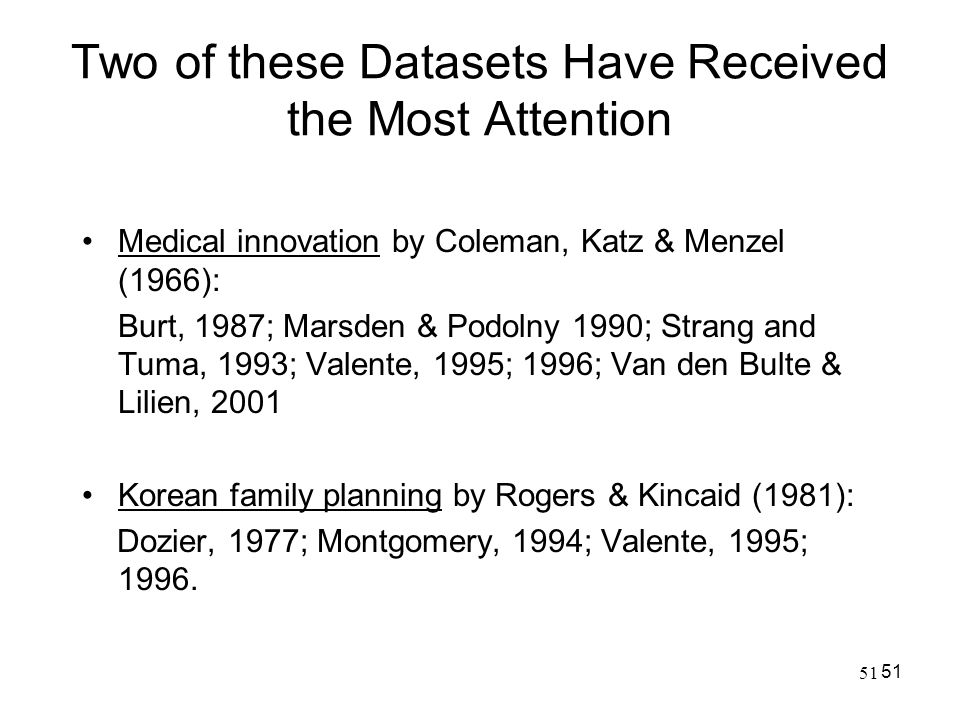 Two of these Datasets Have Received the Most Attention