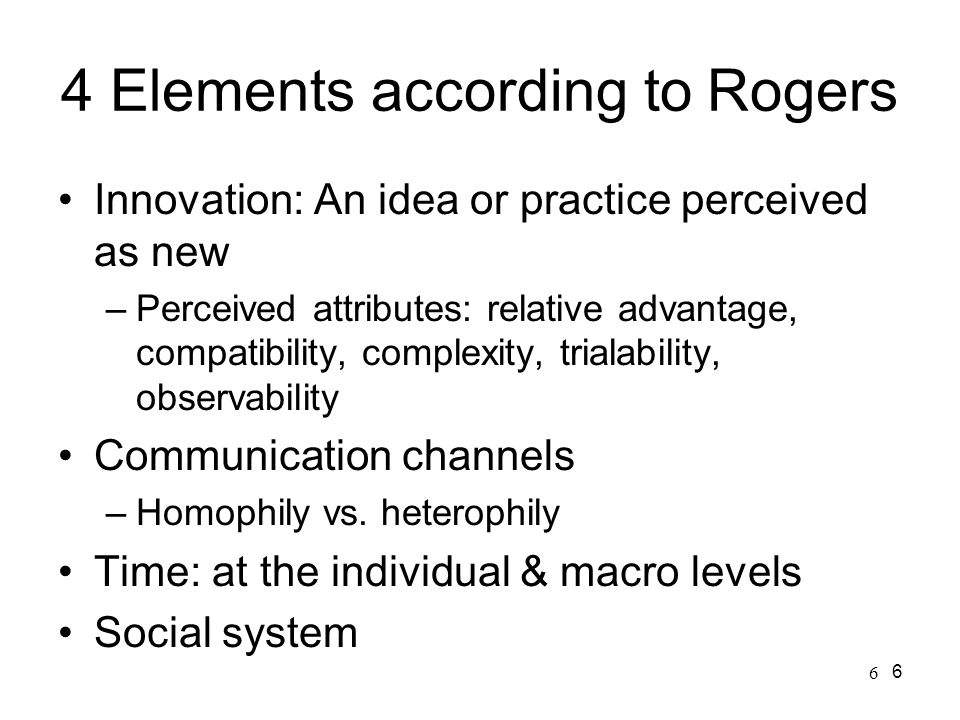 4 Elements according to Rogers