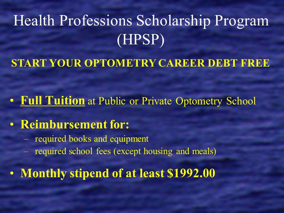 Health Professions Scholarship Program (HPSP)
