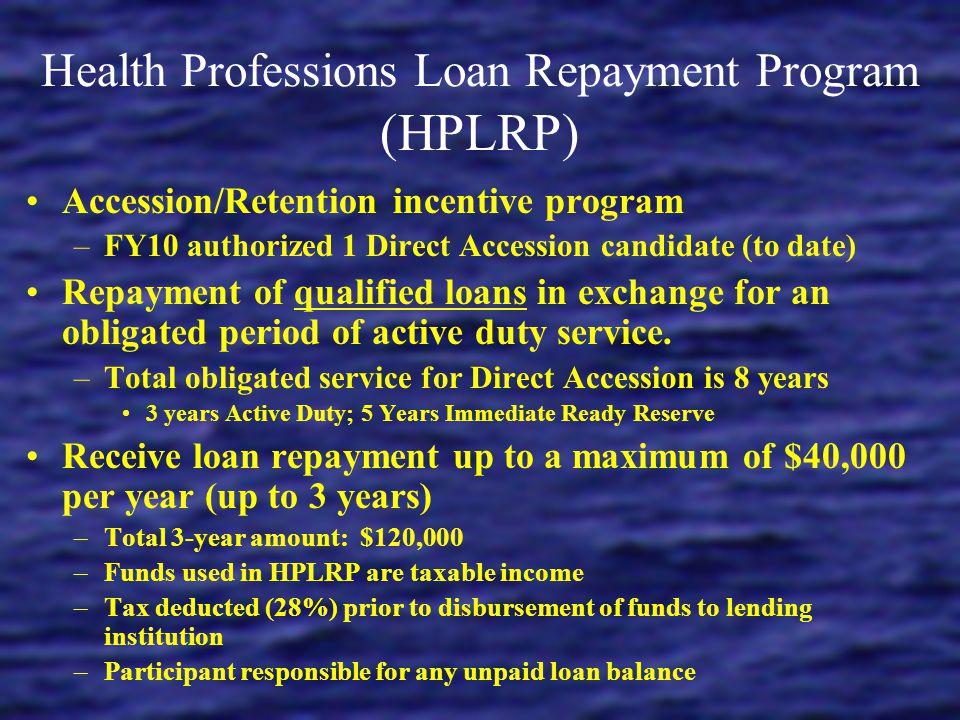 Health Professions Loan Repayment Program (HPLRP)