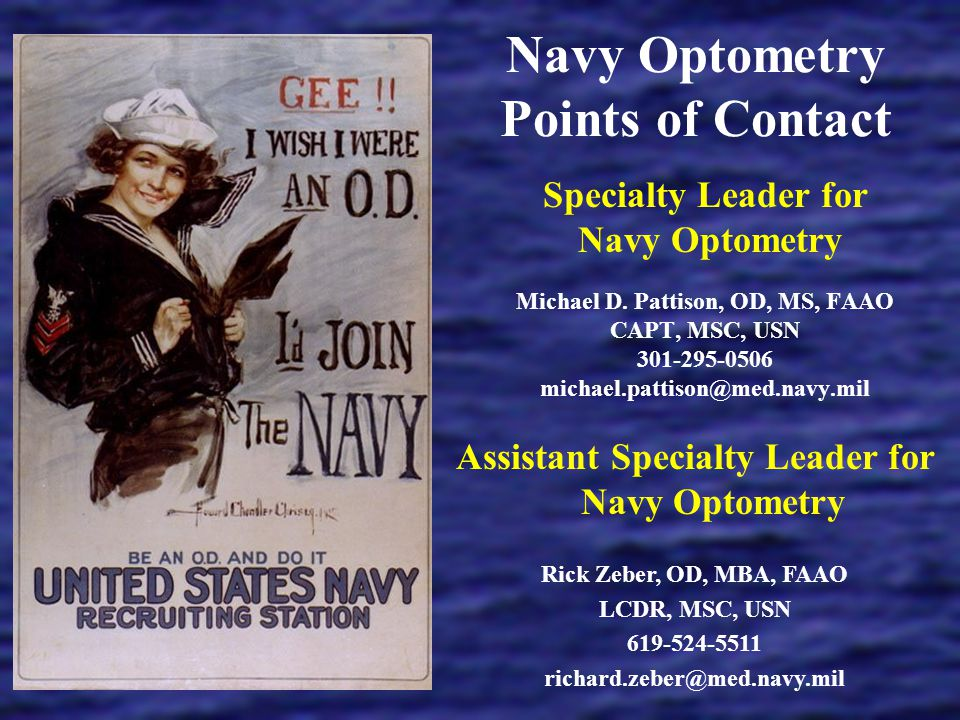 Navy Optometry Points of Contact