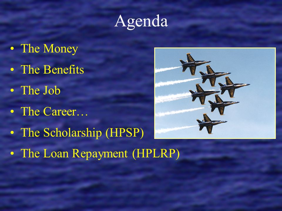 Agenda The Money The Benefits The Job The Career…