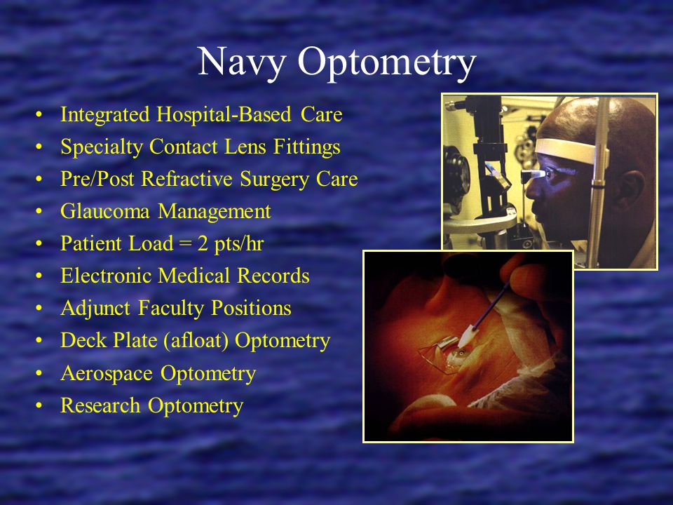 Navy Optometry Integrated Hospital-Based Care