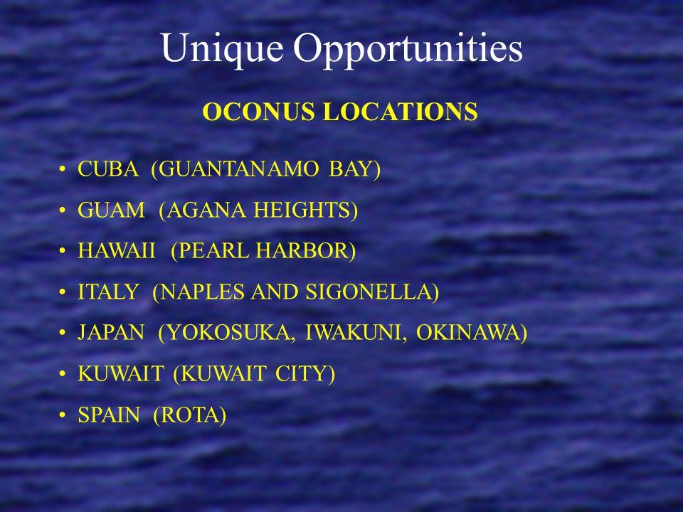 Unique Opportunities OCONUS LOCATIONS CUBA (GUANTANAMO BAY)