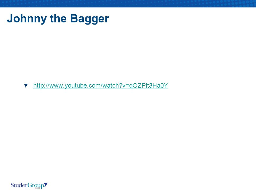 Johnny the Bagger http://www.youtube.com/watch v=qOZPlt3Ha0Y