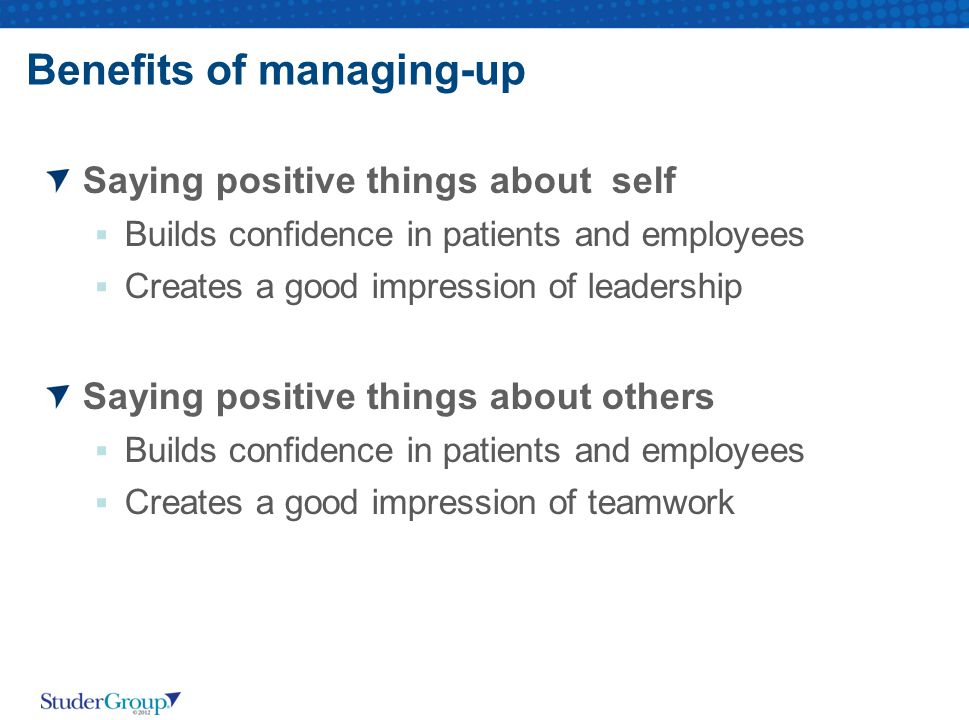 Benefits of managing-up