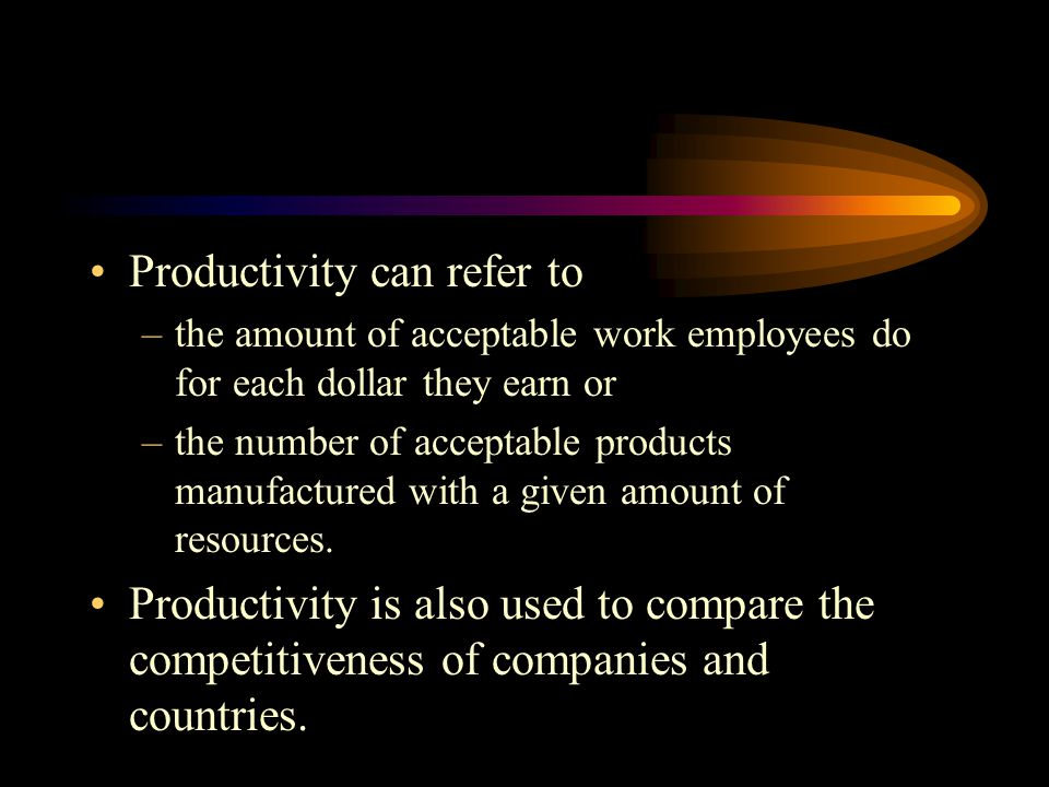 Productivity can refer to