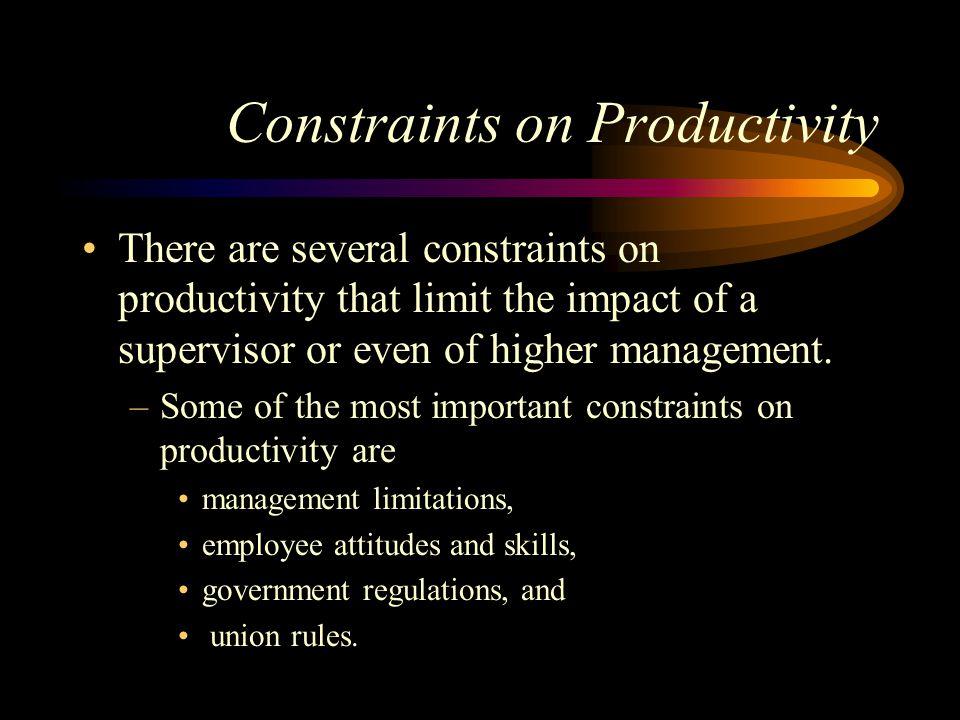 Constraints on Productivity