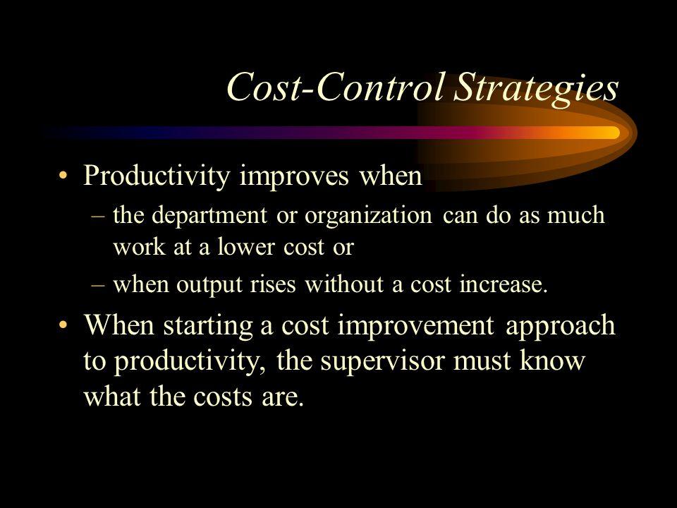 Cost-Control Strategies