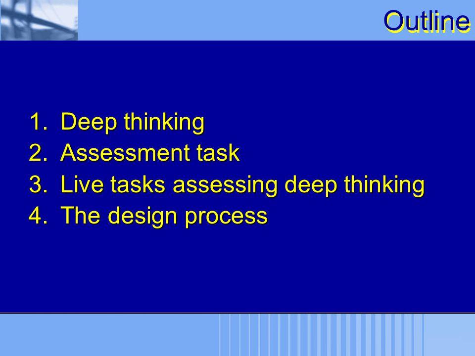 Outline Deep thinking Assessment task