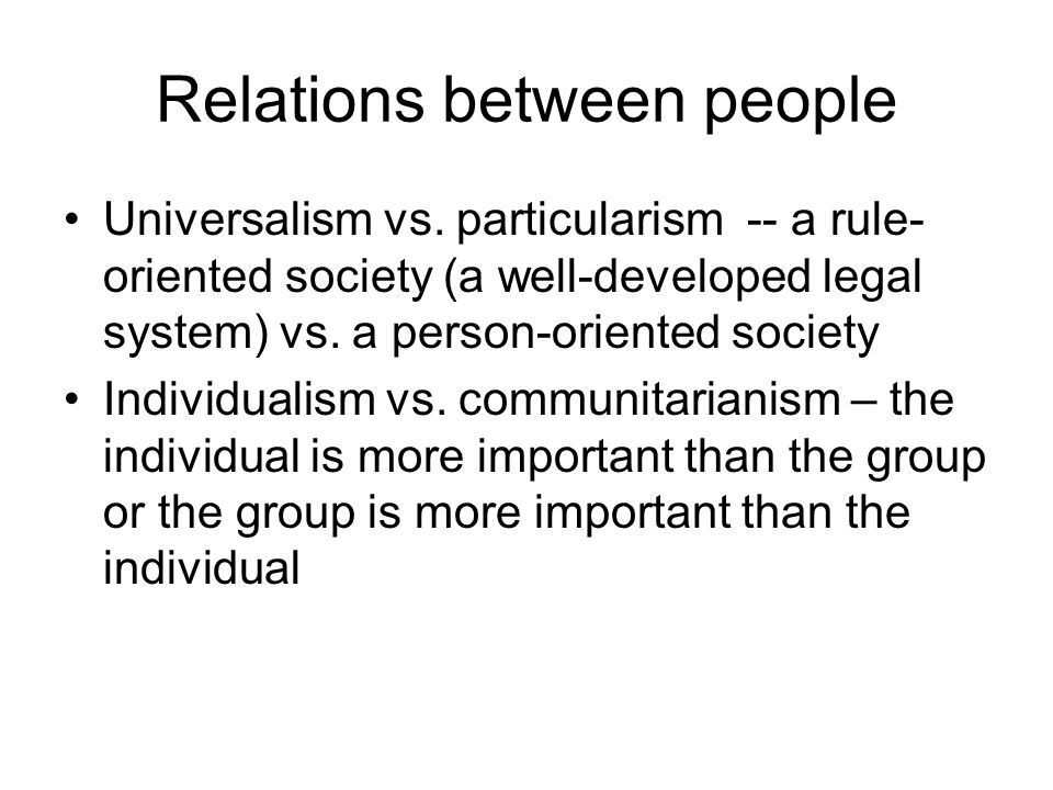 Relations between people
