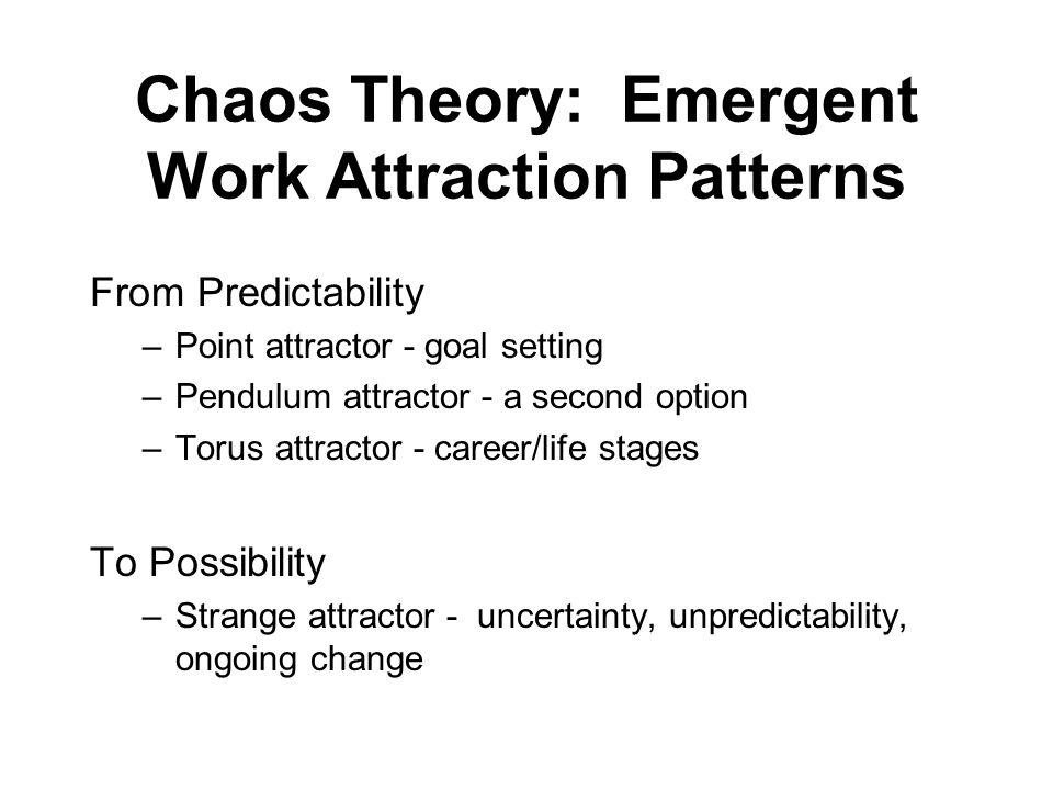 Chaos Theory: Emergent Work Attraction Patterns