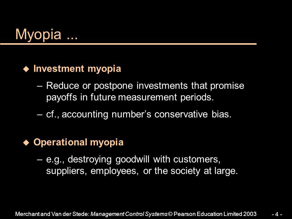 Myopia ... Investment myopia