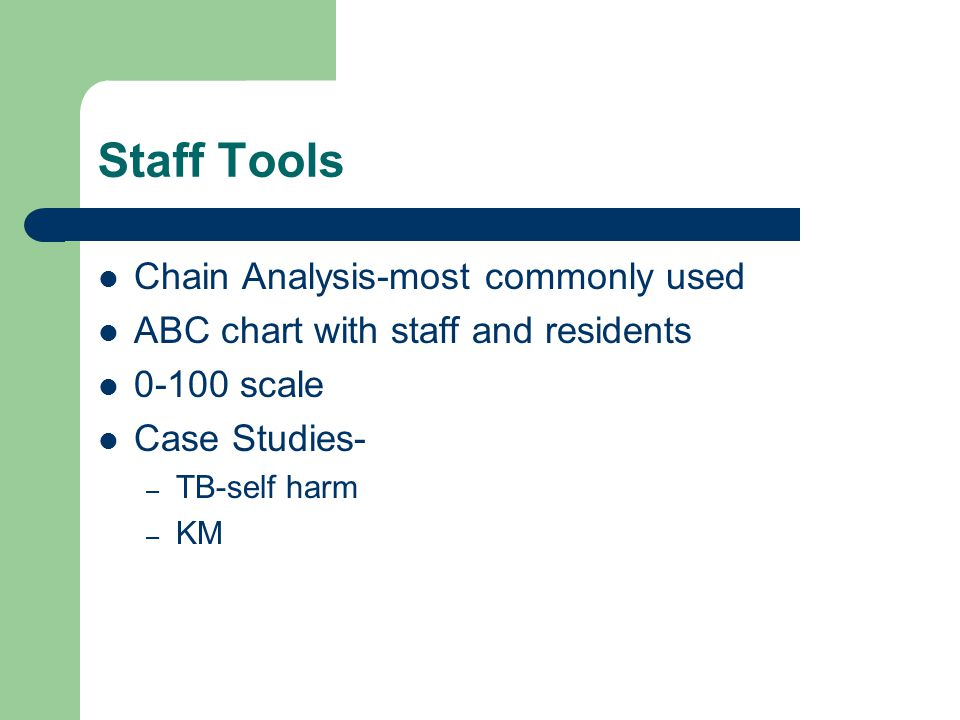 Staff Tools Chain Analysis-most commonly used