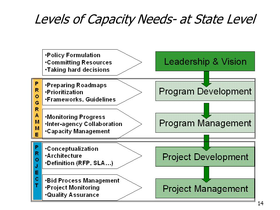 Levels of Capacity Needs- at State Level