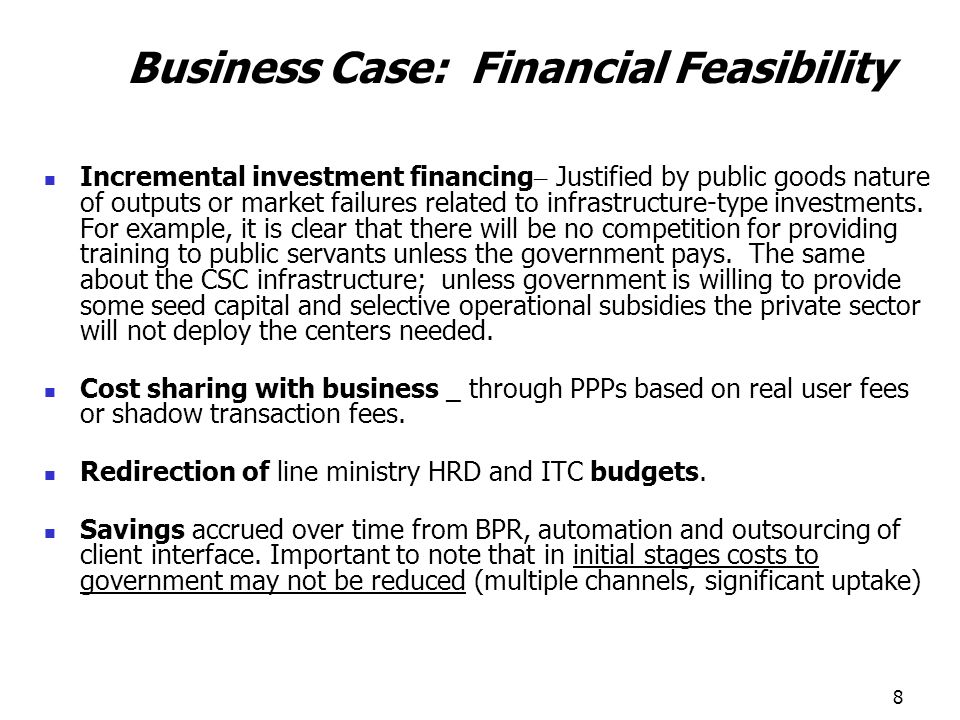 Business Case: Financial Feasibility
